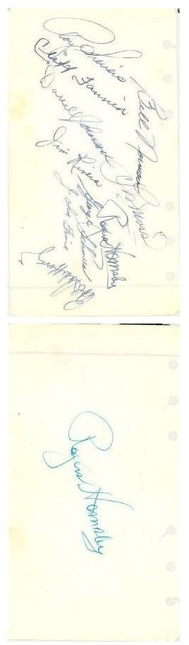 Photocopy of 1952 St Louis Browns'  Autographs