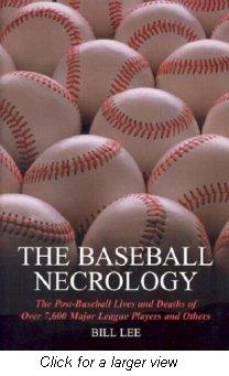 Cover of The Baseball Necrology